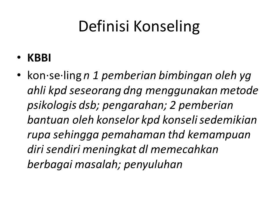 Definisi Konseling KBBI