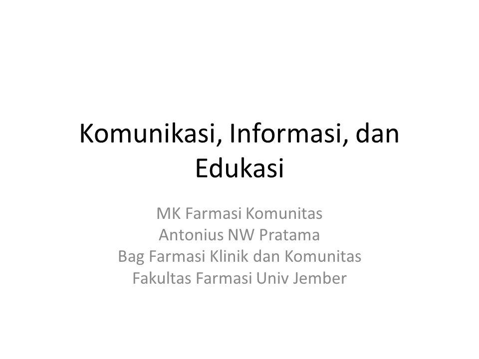 Komunikasi, Informasi, dan Edukasi