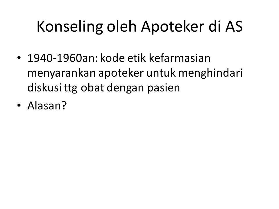 Konseling oleh Apoteker di AS