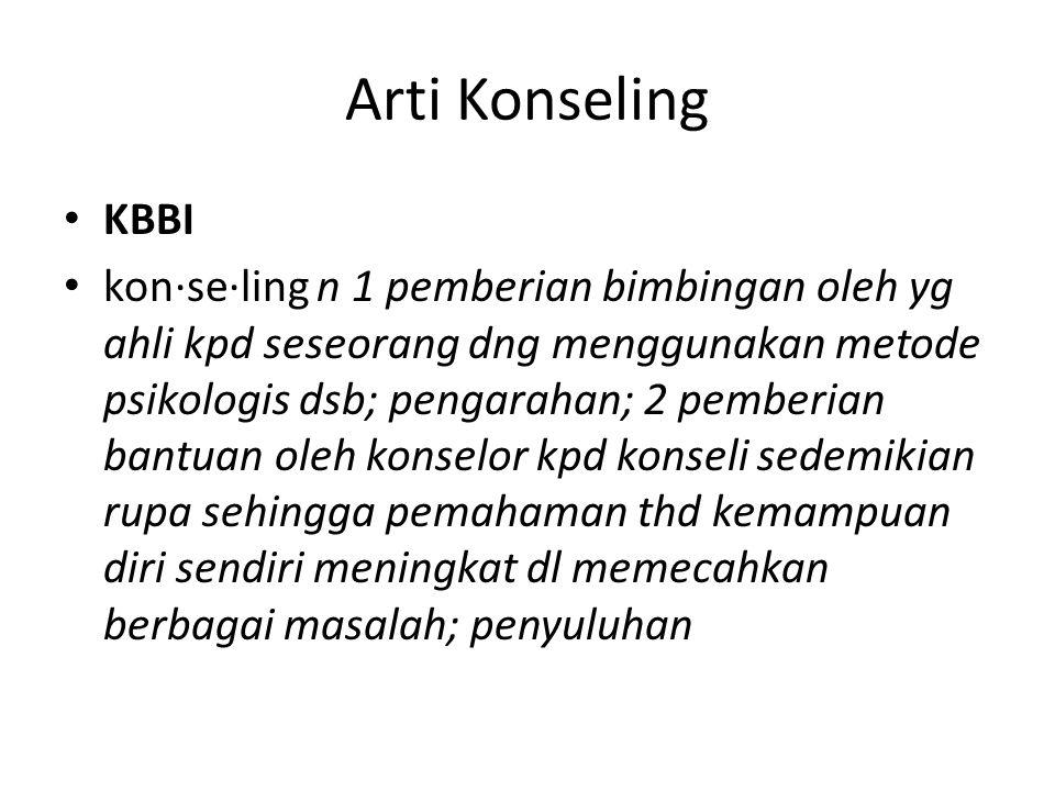 Arti Konseling KBBI.