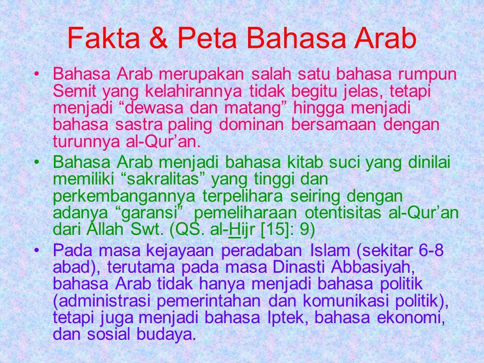 Fakta & Peta Bahasa Arab