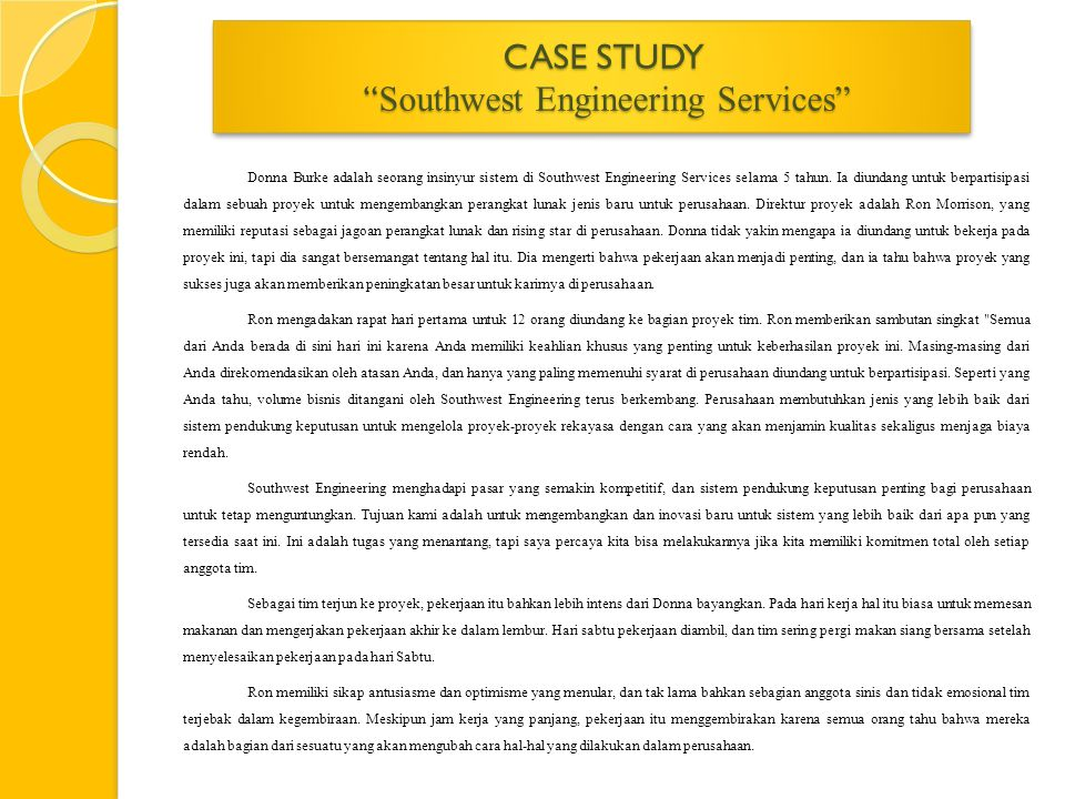 CASE STUDY Southwest Engineering Services