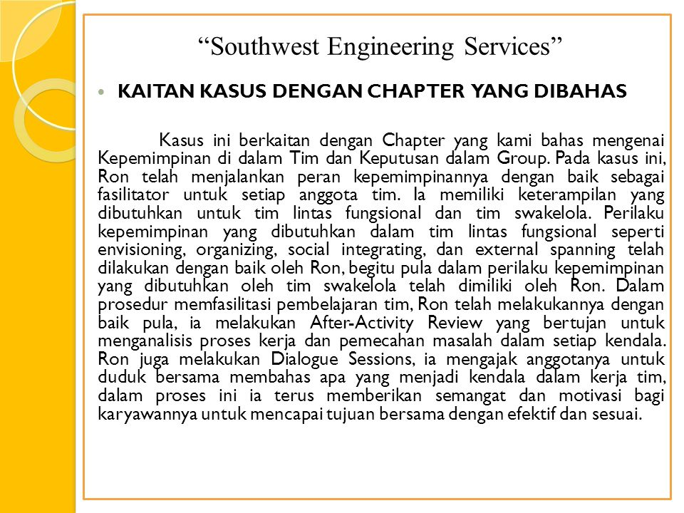 Southwest Engineering Services