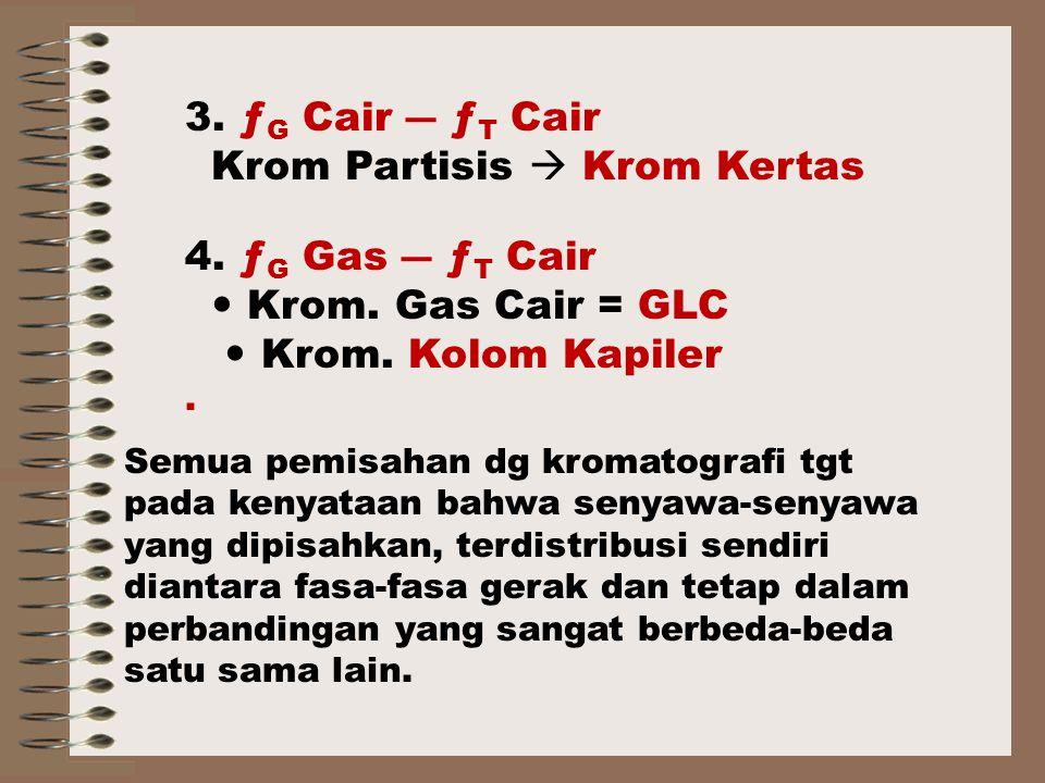 Krom Partisis  Krom Kertas 4. ƒG Gas ― ƒT Cair  Krom. Gas Cair = GLC