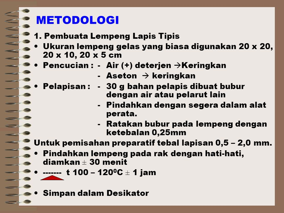 METODOLOGI 1. Pembuata Lempeng Lapis Tipis