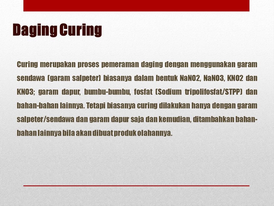 Daging Curing