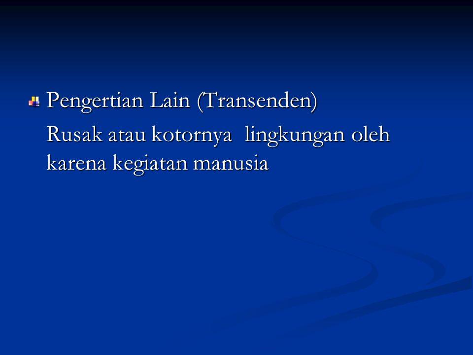 Pengertian Lain (Transenden)