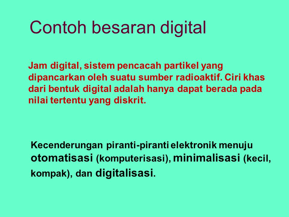 Contoh besaran digital