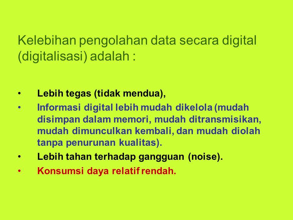 Kelebihan pengolahan data secara digital (digitalisasi) adalah :
