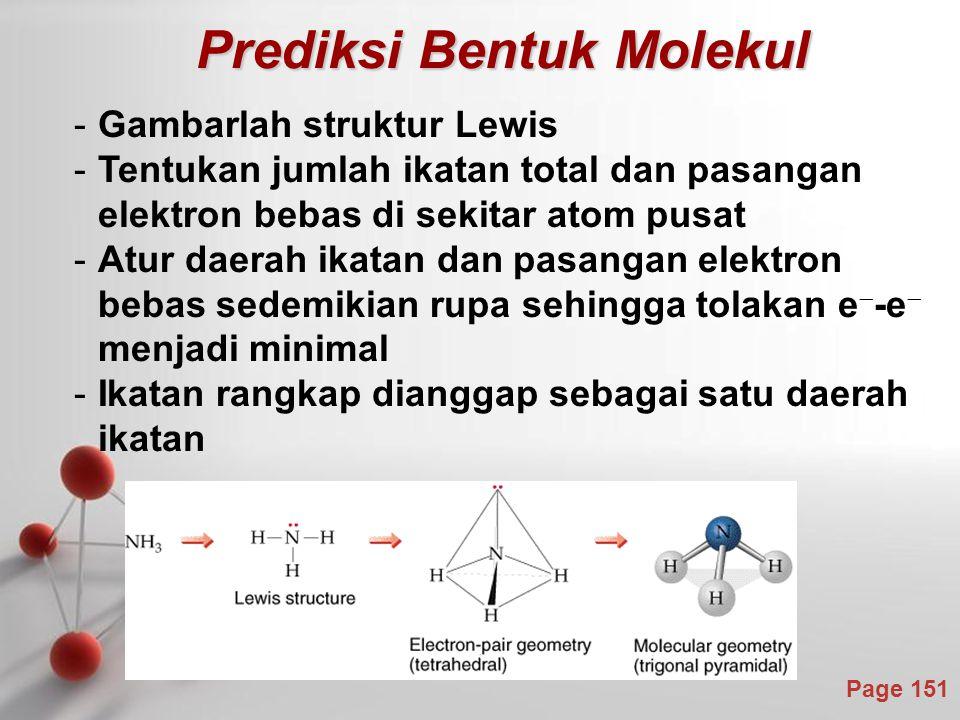 Prediksi Bentuk Molekul