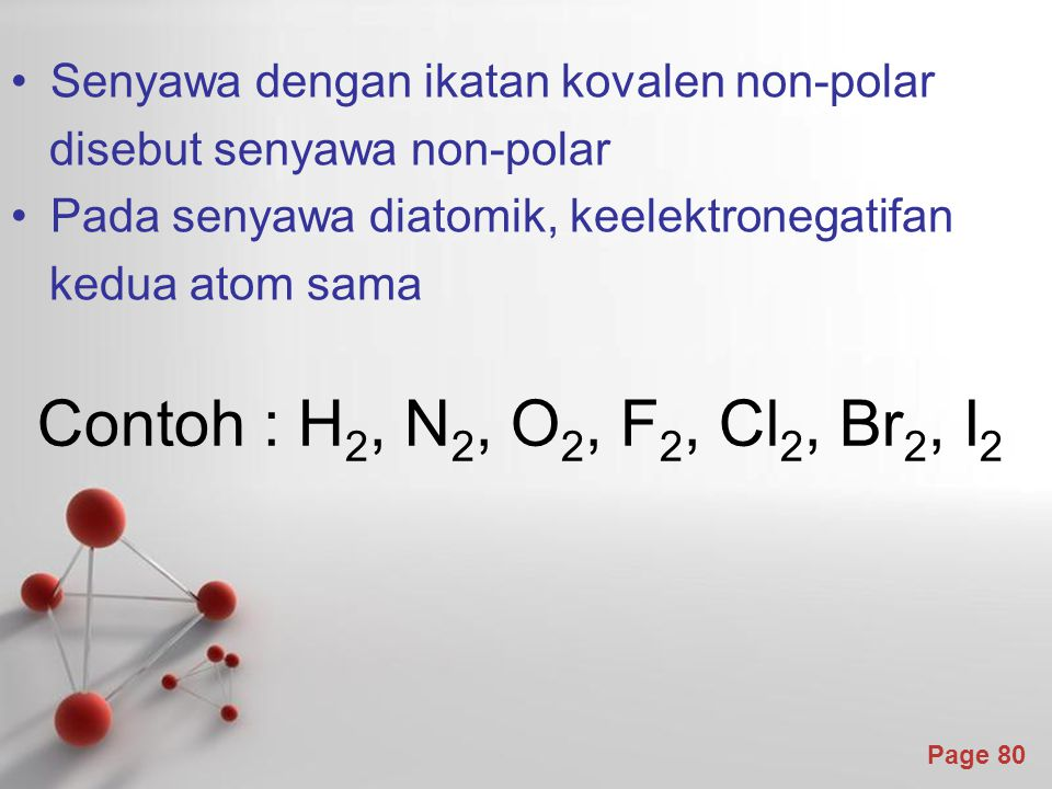 Senyawa dengan ikatan kovalen non-polar