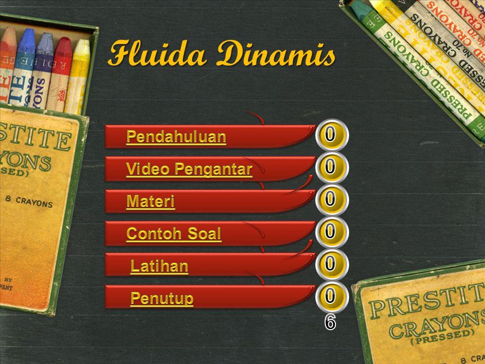 Fluida Dinamis 01 02 03 04 05 06 Pendahuluan Video Pengantar Materi