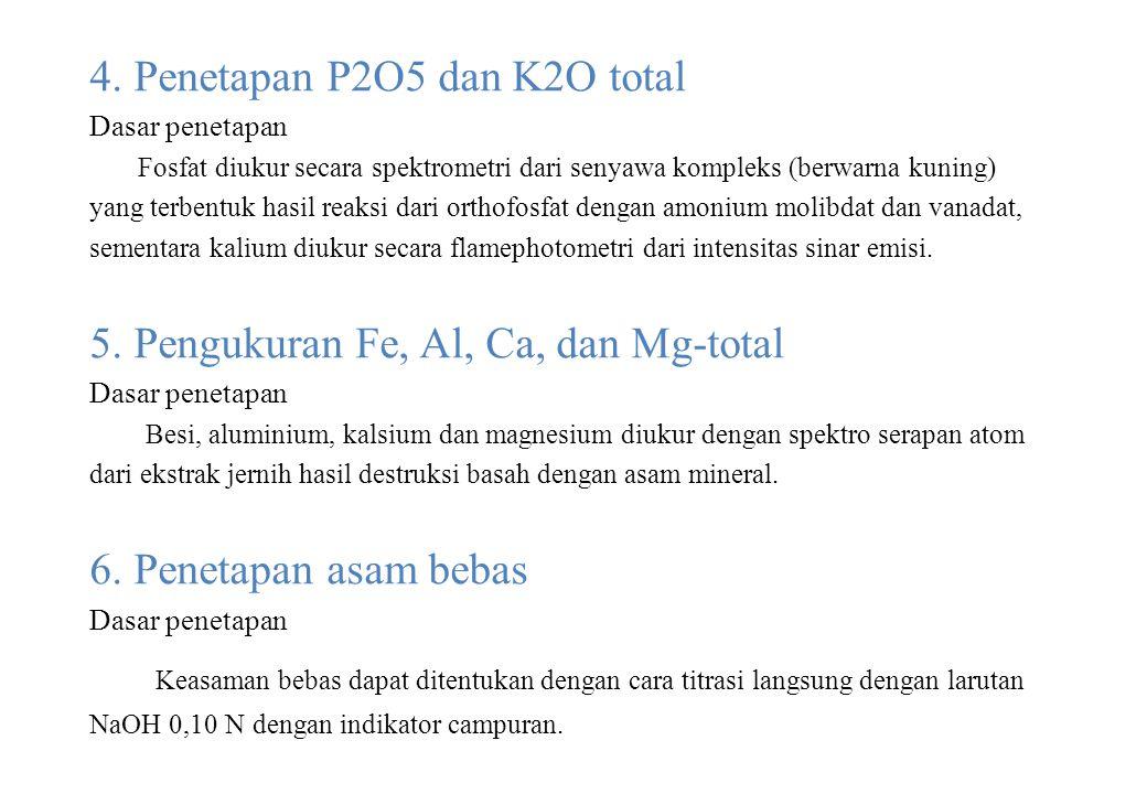 4. Penetapan P2O5 dan K2O total