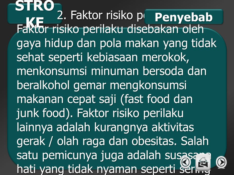 2. Faktor risiko perilaku
