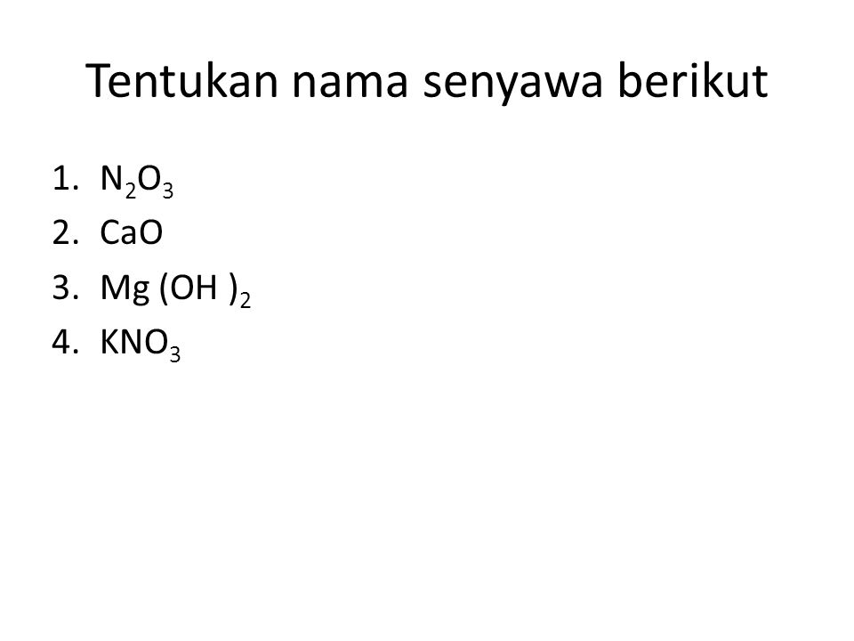 Tentukan nama senyawa berikut