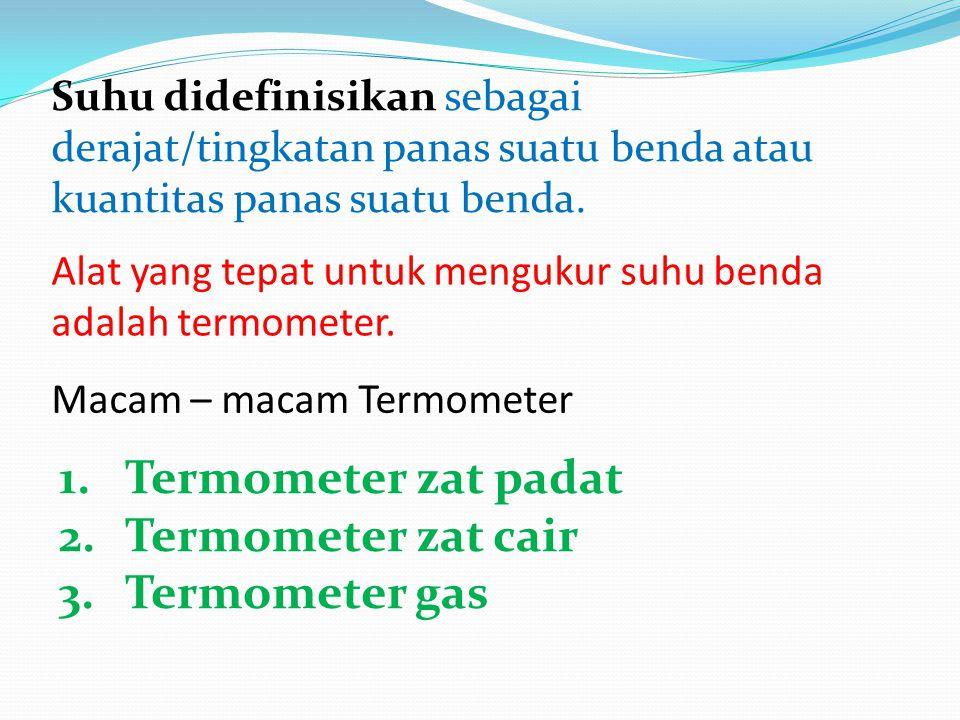 Termometer zat padat Termometer zat cair Termometer gas