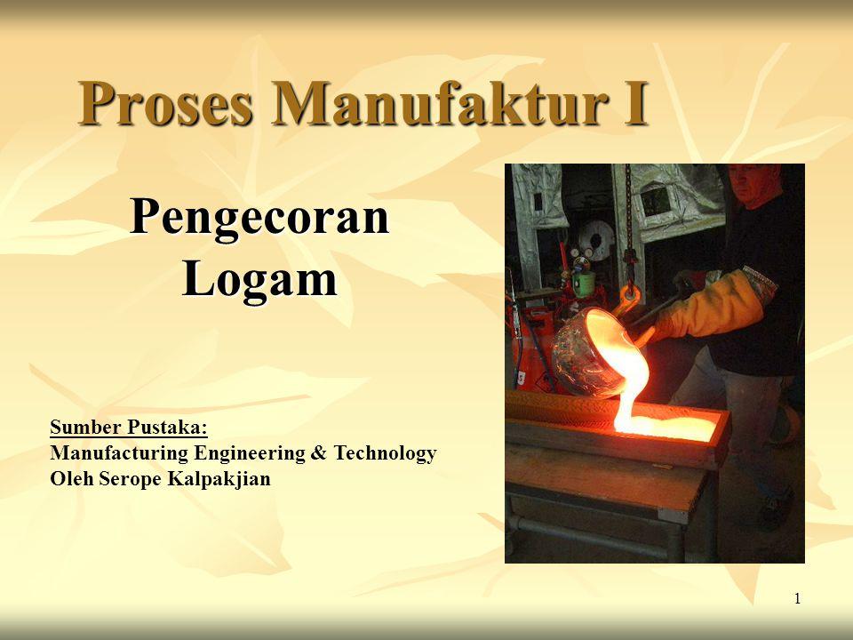 Proses Manufaktur I Pengecoran Logam Sumber Pustaka: