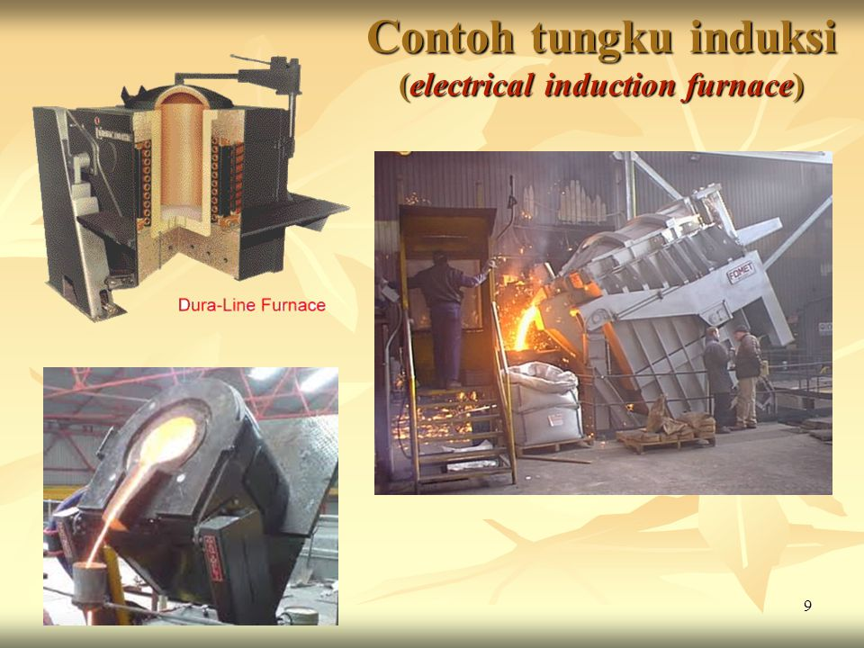 Contoh tungku induksi (electrical induction furnace)
