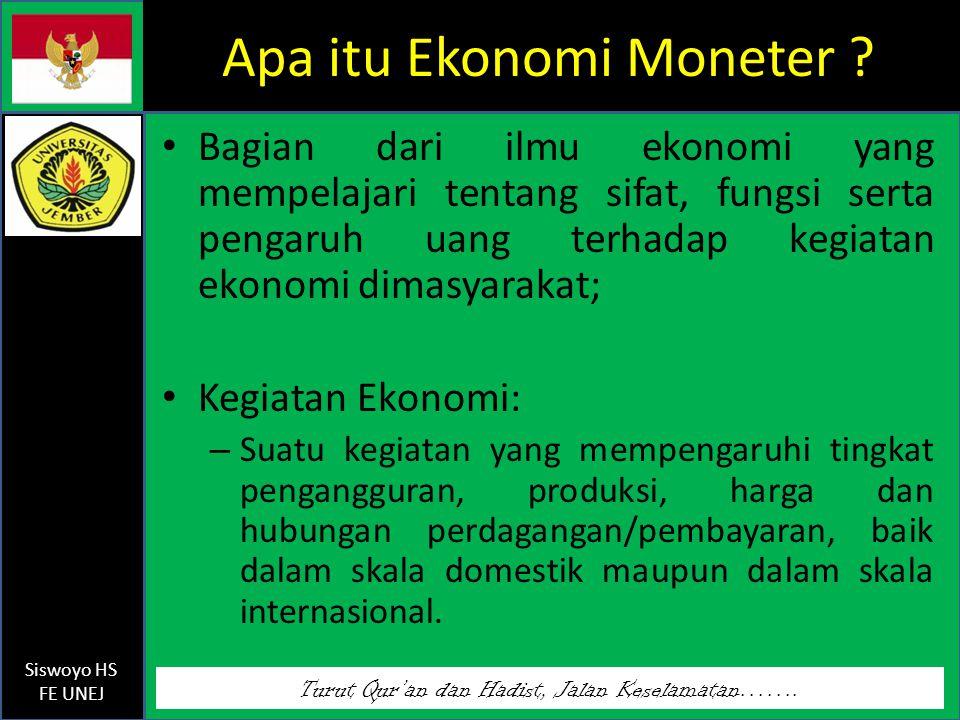 Apa itu Ekonomi Moneter