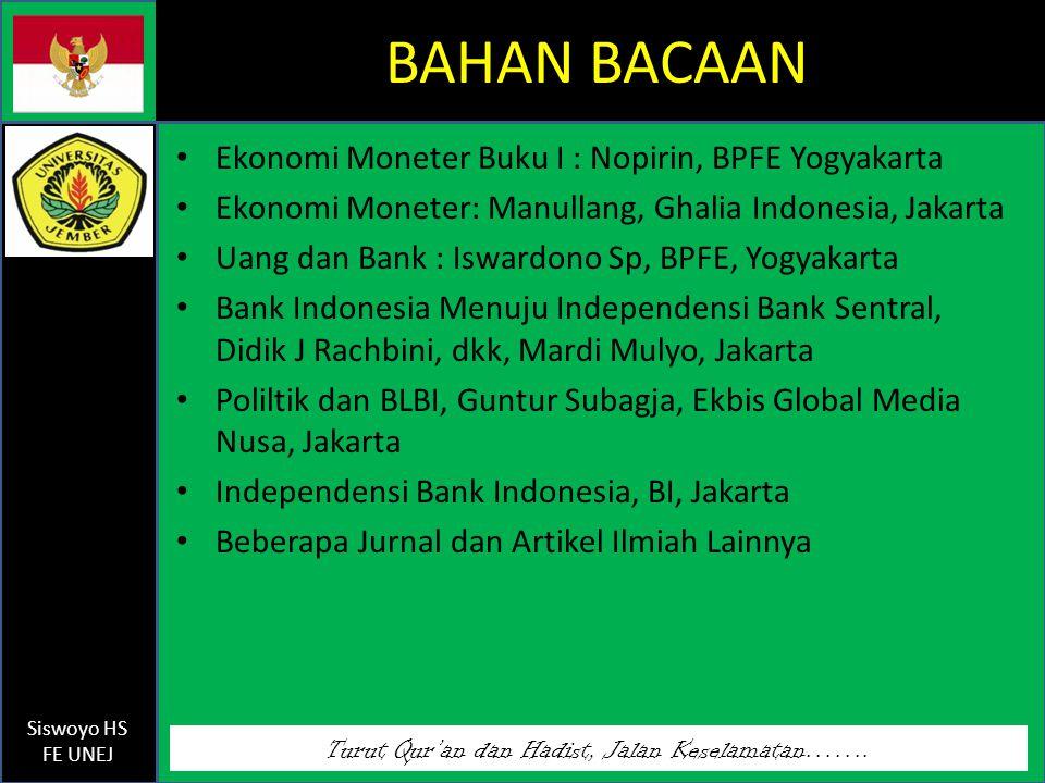 BAHAN BACAAN Ekonomi Moneter Buku I : Nopirin, BPFE Yogyakarta