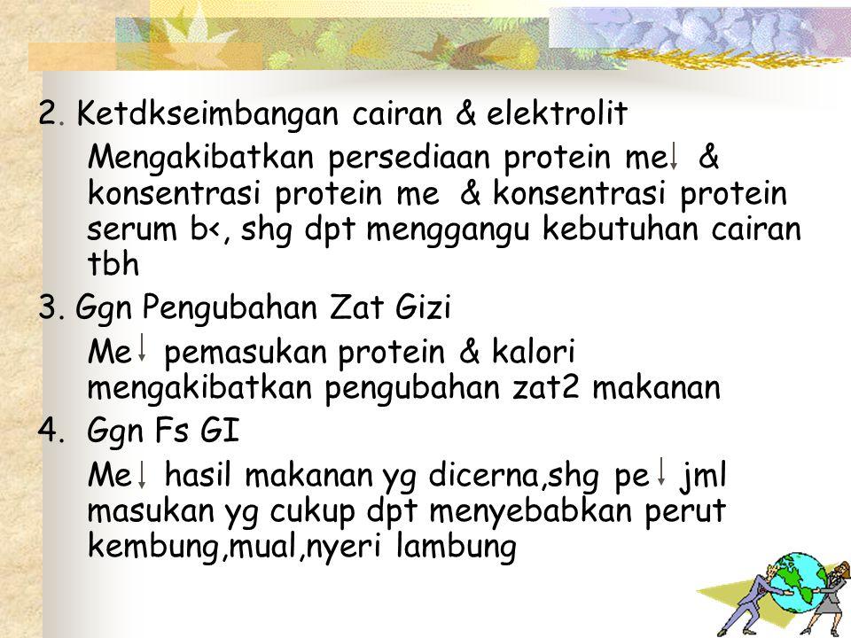 2. Ketdkseimbangan cairan & elektrolit