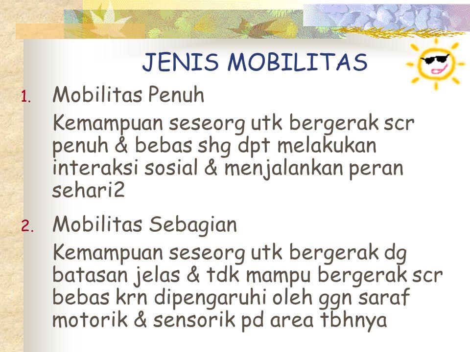 JENIS MOBILITAS Mobilitas Penuh
