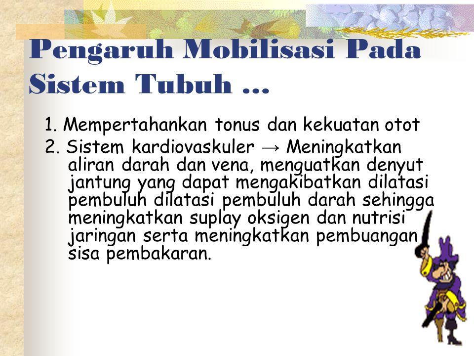 Pengaruh Mobilisasi Pada Sistem Tubuh …