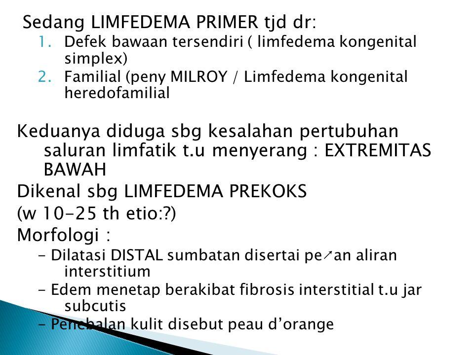 Sedang LIMFEDEMA PRIMER tjd dr:
