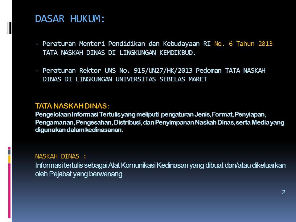 DASAR HUKUM: - Peraturan Menteri Pendidikan dan Kebudayaan RI No