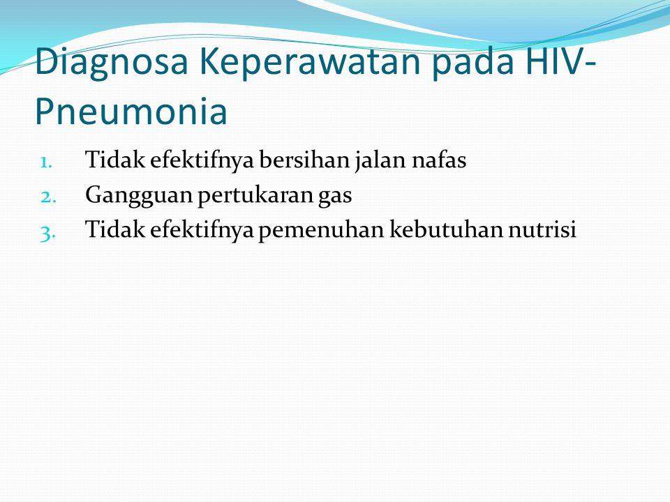 Diagnosa Keperawatan pada HIV-Pneumonia