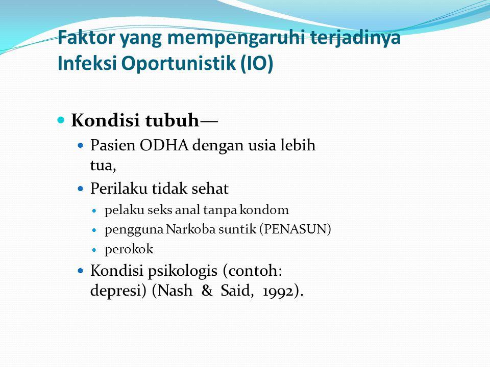 Faktor yang mempengaruhi terjadinya Infeksi Oportunistik (IO)