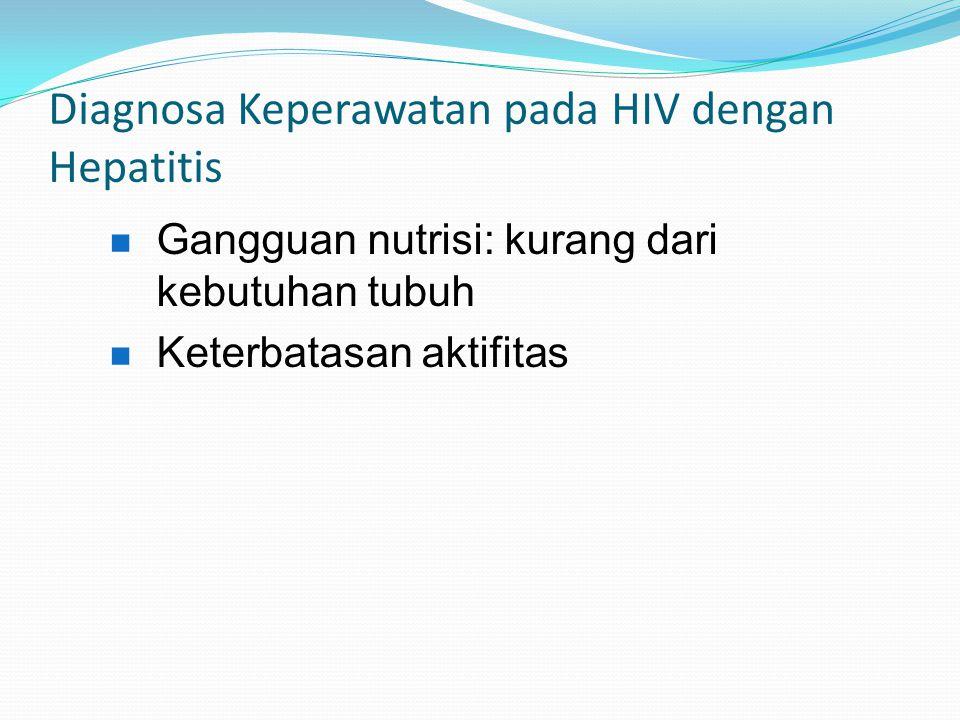 Diagnosa Keperawatan pada HIV dengan Hepatitis