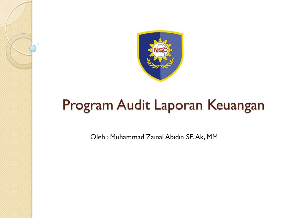 Program Audit Laporan Keuangan