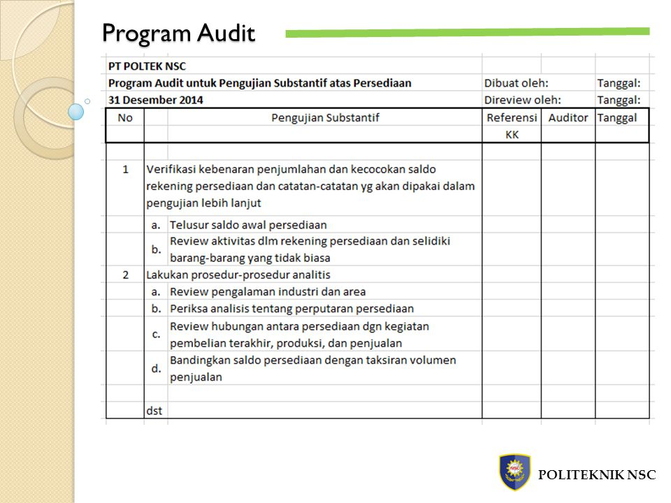 Program Audit POLITEKNIK NSC