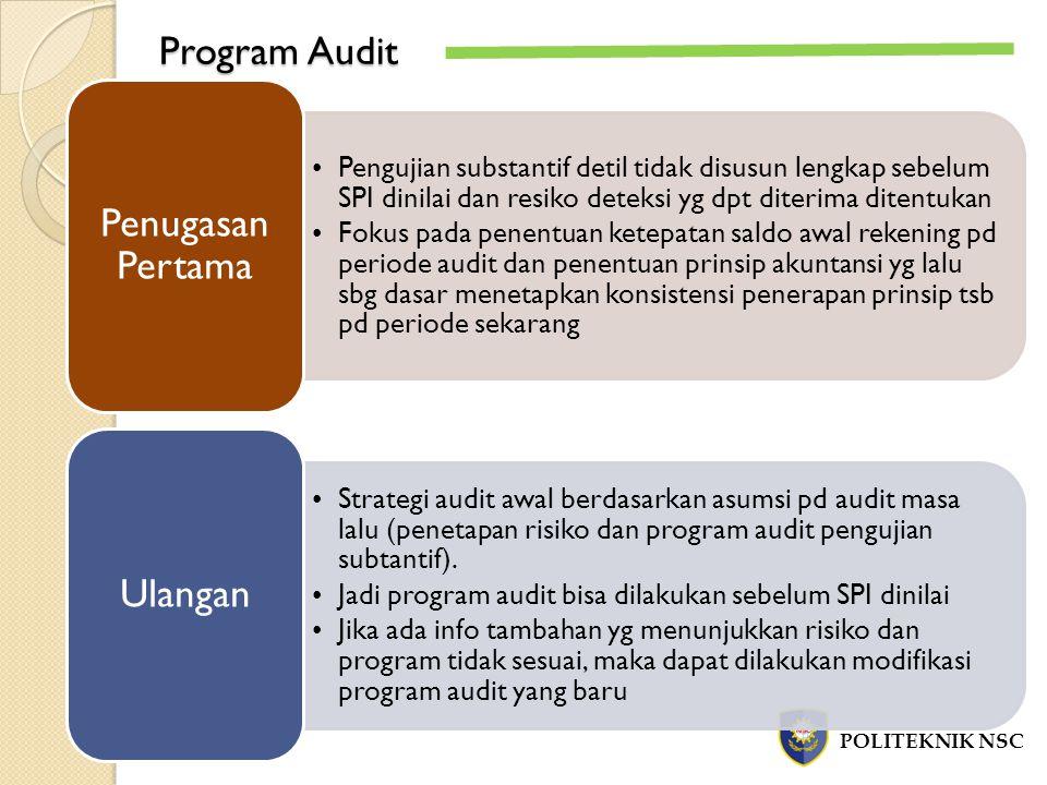 Program Audit Penugasan Pertama Ulangan