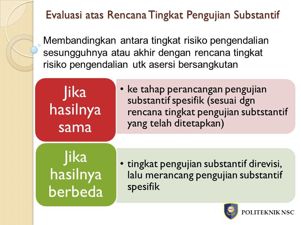 Evaluasi atas Rencana Tingkat Pengujian Substantif