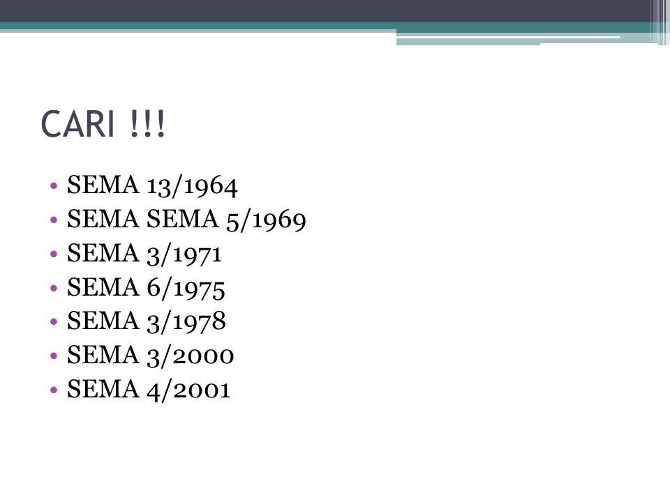 CARI !!! SEMA 13/1964 SEMA SEMA 5/1969 SEMA 3/1971 SEMA 6/1975