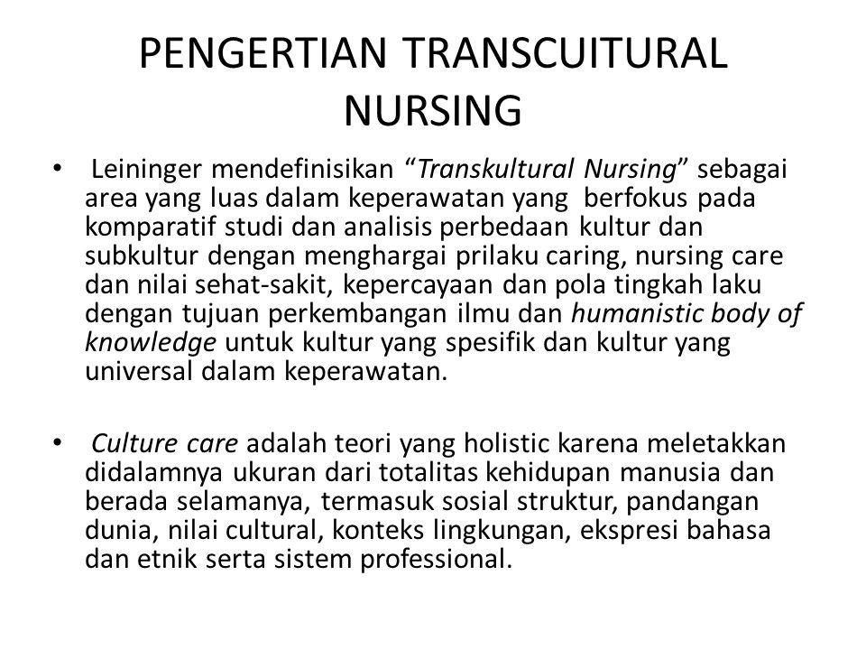 PENGERTIAN TRANSCUITURAL NURSING