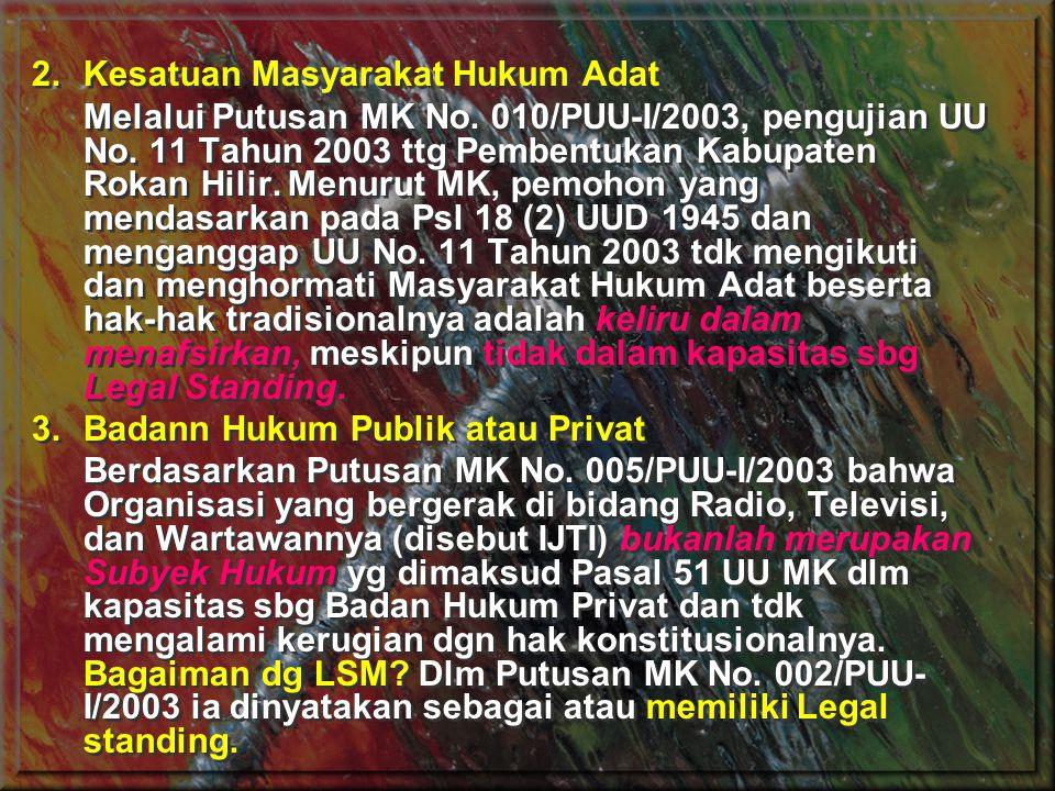 Kesatuan Masyarakat Hukum Adat