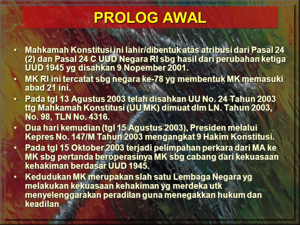 PROLOG AWAL