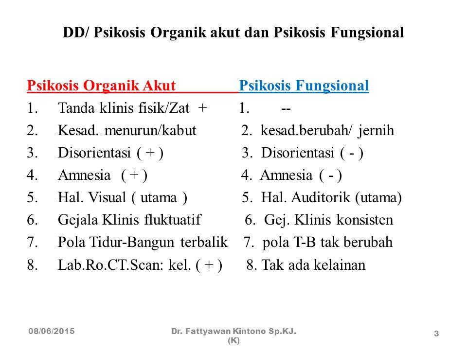 DD/ Psikosis Organik akut dan Psikosis Fungsional