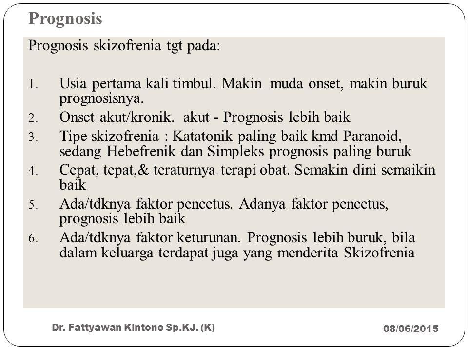 Prognosis Prognosis skizofrenia tgt pada: