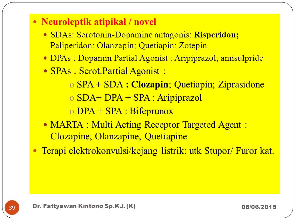 Neuroleptik atipikal / novel