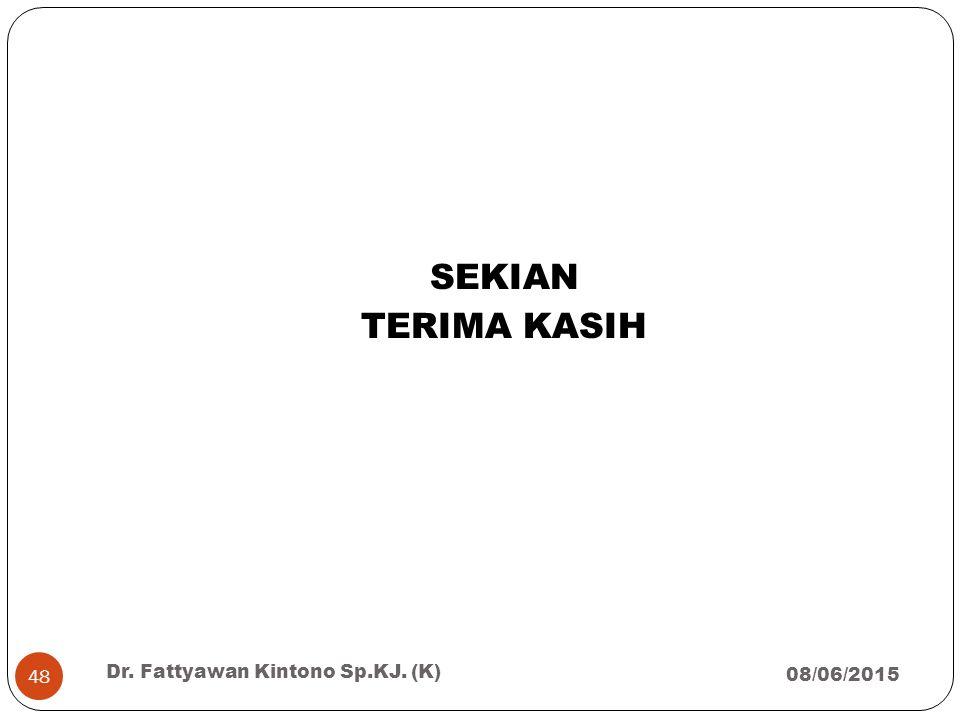 SEKIAN TERIMA KASIH Dr. Fattyawan Kintono Sp.KJ. (K) 16/04/2017