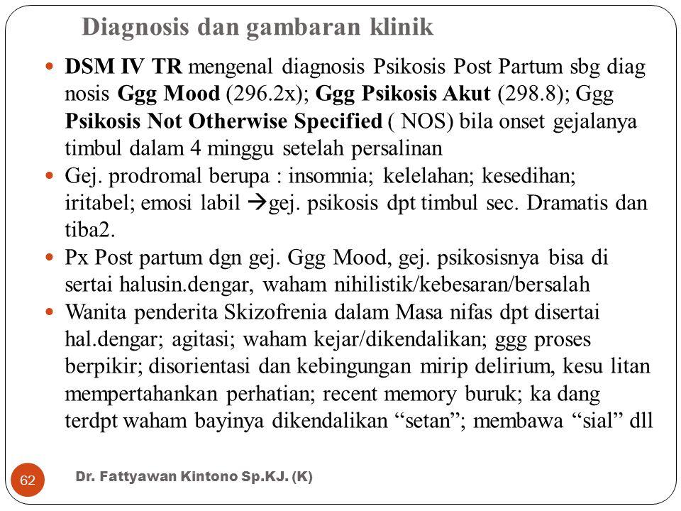 Diagnosis dan gambaran klinik