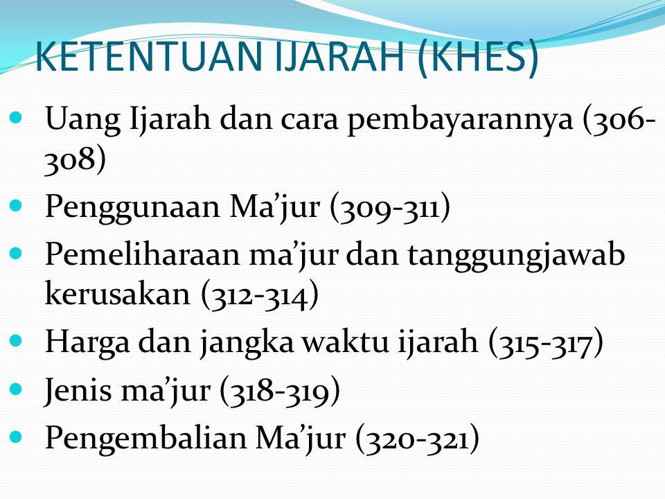 KETENTUAN IJARAH (KHES)