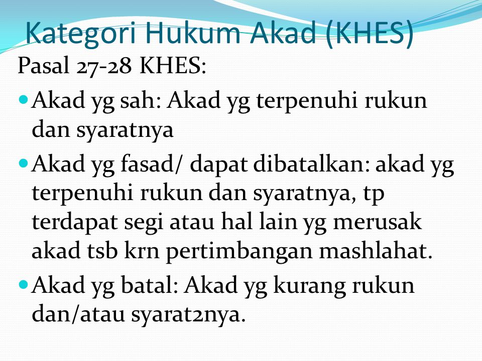 Kategori Hukum Akad (KHES)