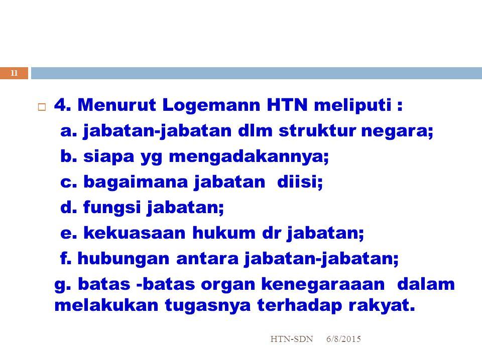 4. Menurut Logemann HTN meliputi :