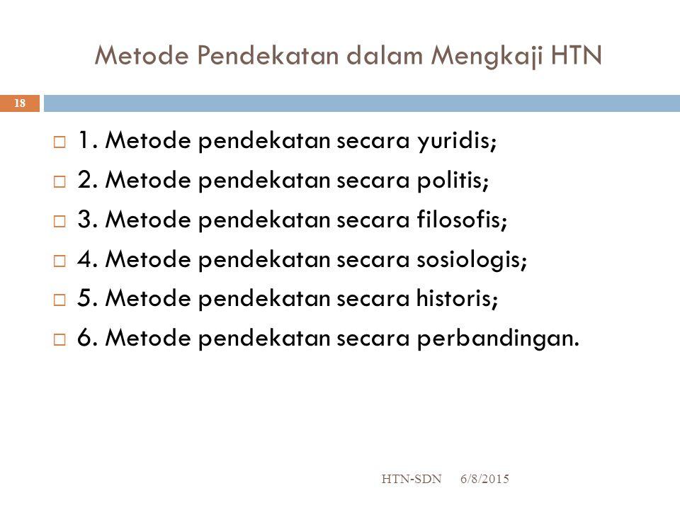 Metode Pendekatan dalam Mengkaji HTN