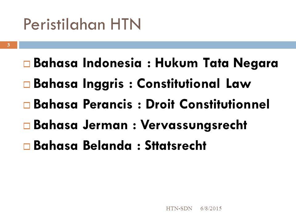 Peristilahan HTN Bahasa Indonesia : Hukum Tata Negara